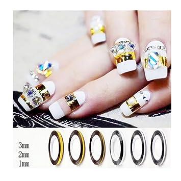 Amazon Born Pretty Goldsilver Nail Art Striping Tape Nail Art