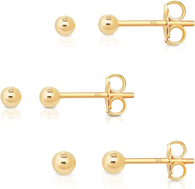 Durchmesser verf/ügbare Gr/ö/ßen: 8 DTPsilver Dicke 1.5 mm 20 16 25 mm 10 Ohrringe 925 Sterling Silber und Rose Vergoldet Creolen 12 Damen 14 18