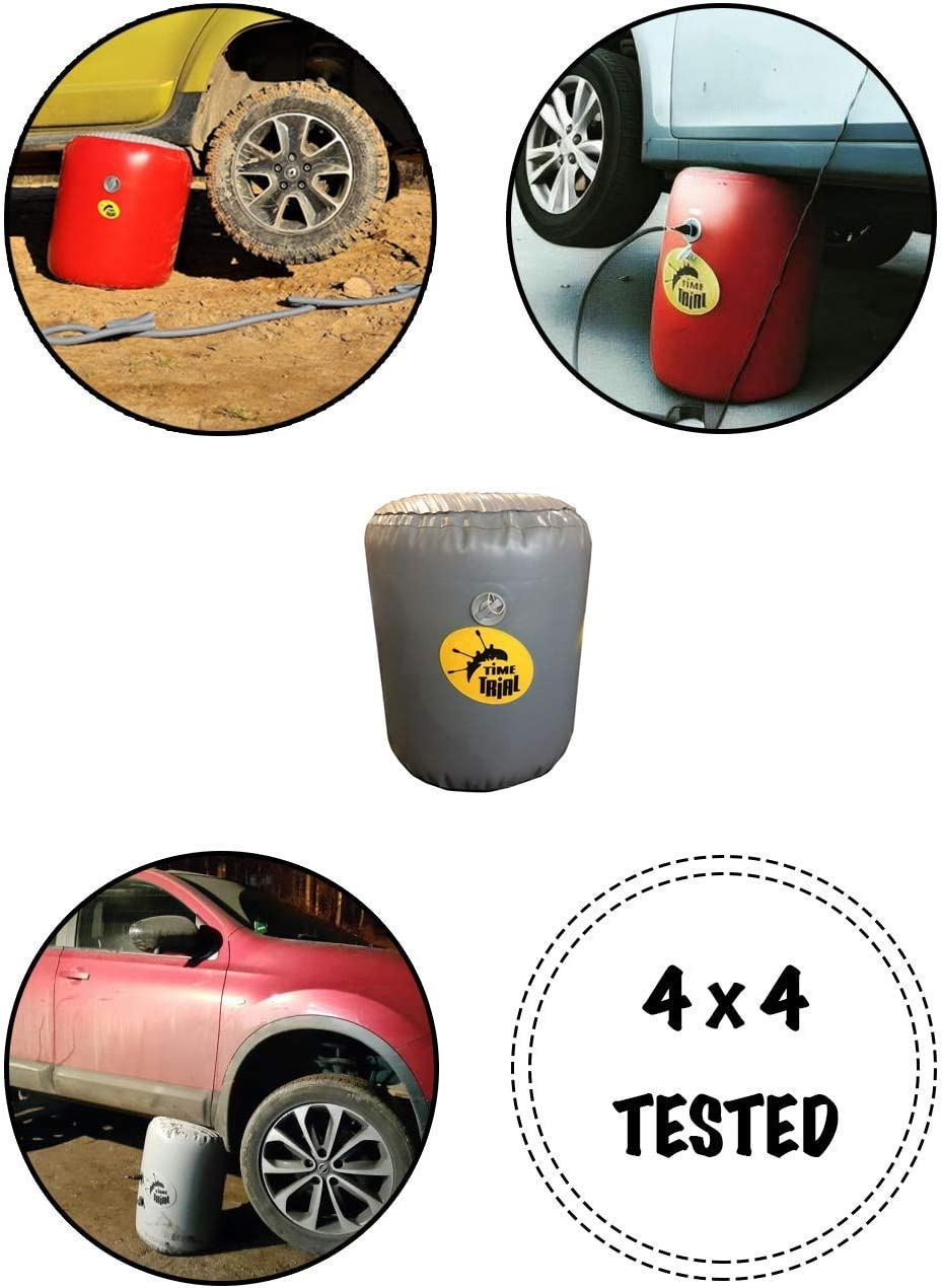 Inflatable Jack 4x4 Off-Road Tested 4000kg//8800lbs. DT-4 TimeTrial Exhaust Air Jack for Cars 0.9m height