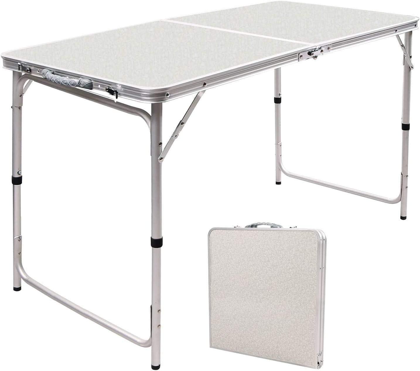 - Amazon.com: RedSwing 4 Feet Folding Table Adjustable Height