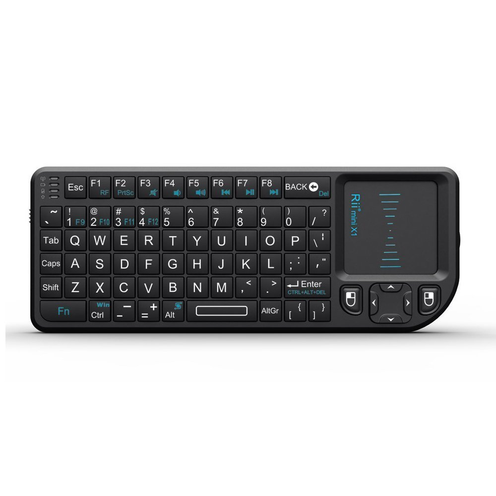 Rii Mini Wireless 2.4GHz Keyboard with Mouse Touchpad Remote Control, Black (mini X1)