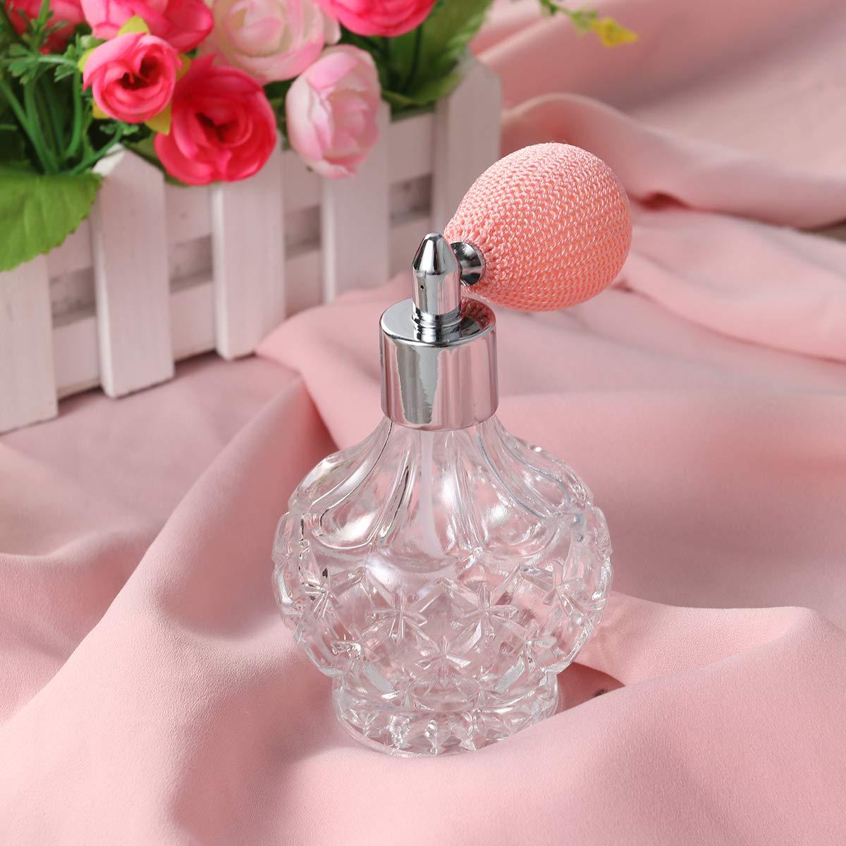 Healifty Botella Atomizador Aerosol de Perfume de Estrella Cristal Vidrio Vacía Recargable 100 ML para Aceites Esenciales Otros Líquidos: Amazon.es: Hogar