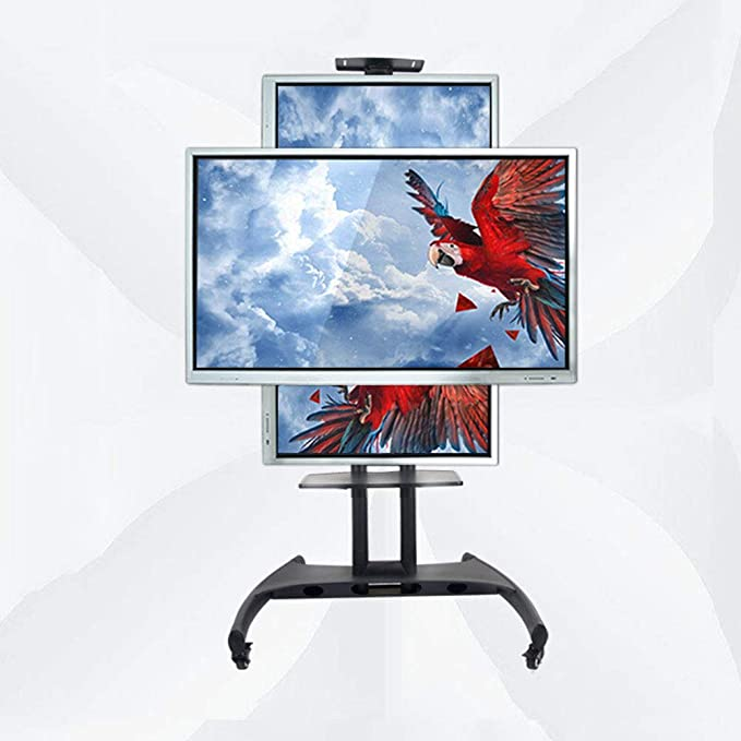 Horizontal y Vertical de la pantalla conmutable Rolling TV Stand Mobile TV Cart para 32 – 60 pulgadas LED LCD al Plasma TV Panel Display Flat 360 o de Dormitorio Giratorio Cámara