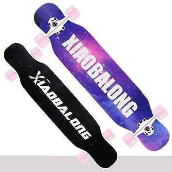 QYSZYG Scooter de Cuatro Ruedas Opcional Estilo Longboard monopatín Longboard para niños y niñas a Bordo