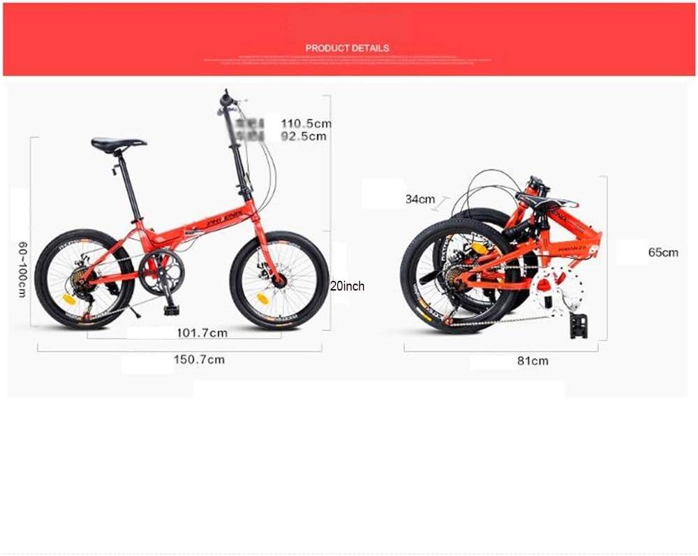 Suspension,Dual Disc Brake,Aluminum Frame,21-Speed Folding Non-Slip MTB Bike for Men//Women Aluminum Frame,Full Mountain Bike for Adult Teens,26-Inch Wheels