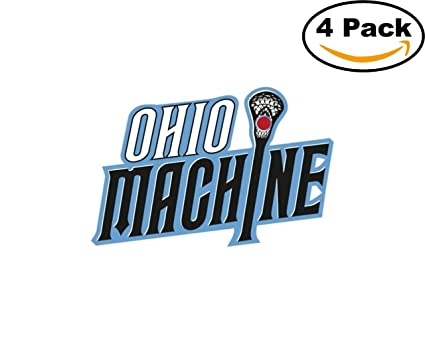 Lacrosse ohio machine logo 4 stickers 4x4 inches car bumper window sticker decal