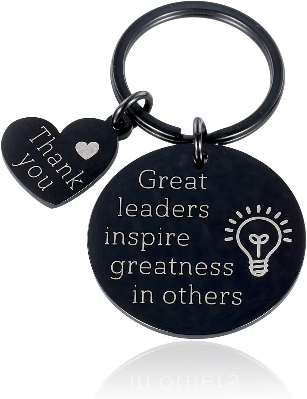 Thank You Boss Leadership Keychain Gift for Women Men Boss Day Lady Birthday Christams Gift for Mentor Him Her Friends Manager Appreciation Gift for Female Male Realtor BFF Coworker Going Away Gift