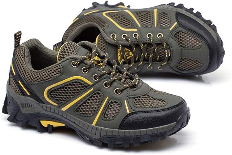 Running Cheetah Zapatos de montaña Senderismo Malla al Aire Libre Zapatos de Trekking Transpirables Pareja de Viaje Escalada Zapatillas Antideslizantes Armygreen 40: Amazon.es: Zapatos y complementos