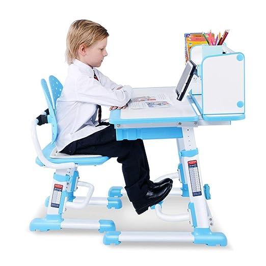 Mesa de estudio del estudiante de escritorio para niños y juego de ...