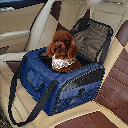Pet Booster Seat Pet Car Seat Carrier Dog Carrier Pet Car Seat, Lookout Booster Seat, Portable Fordable Cat Puppy Dog Booster Seat Travel Bag Cage Kennel