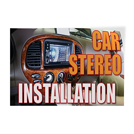 14inx10in Set of 10 Decal Sticker Multiple Sizes Car Stereo Installation #1 Automotive Car Stereo Installation Outdoor Store Sign Orange