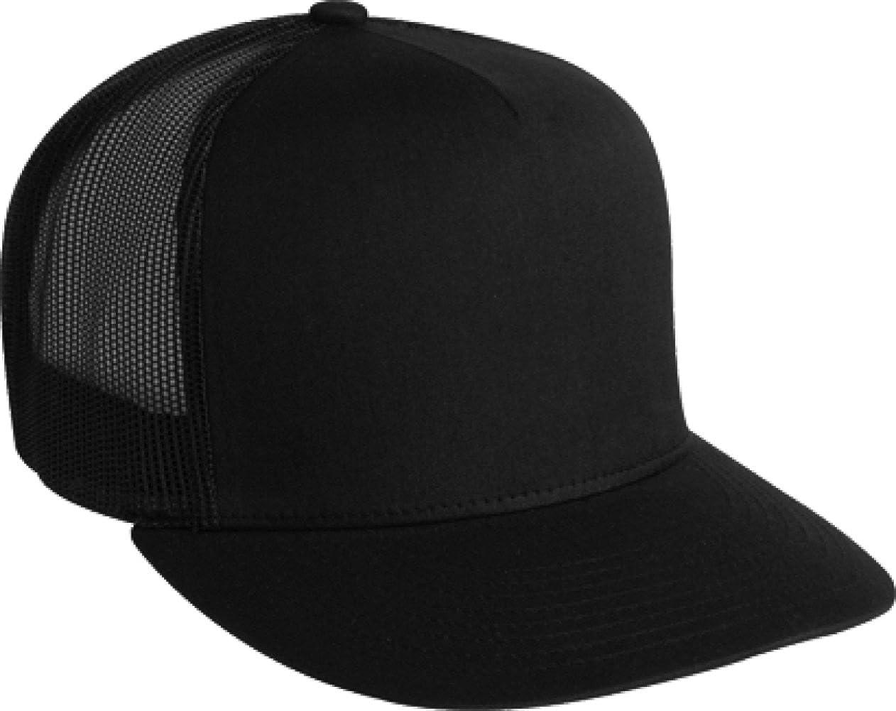 934aed46a712c Amazon.com  Adjustable Snapback Classic Trucker Hat by FlexFit  6006  (Black)  Clothing