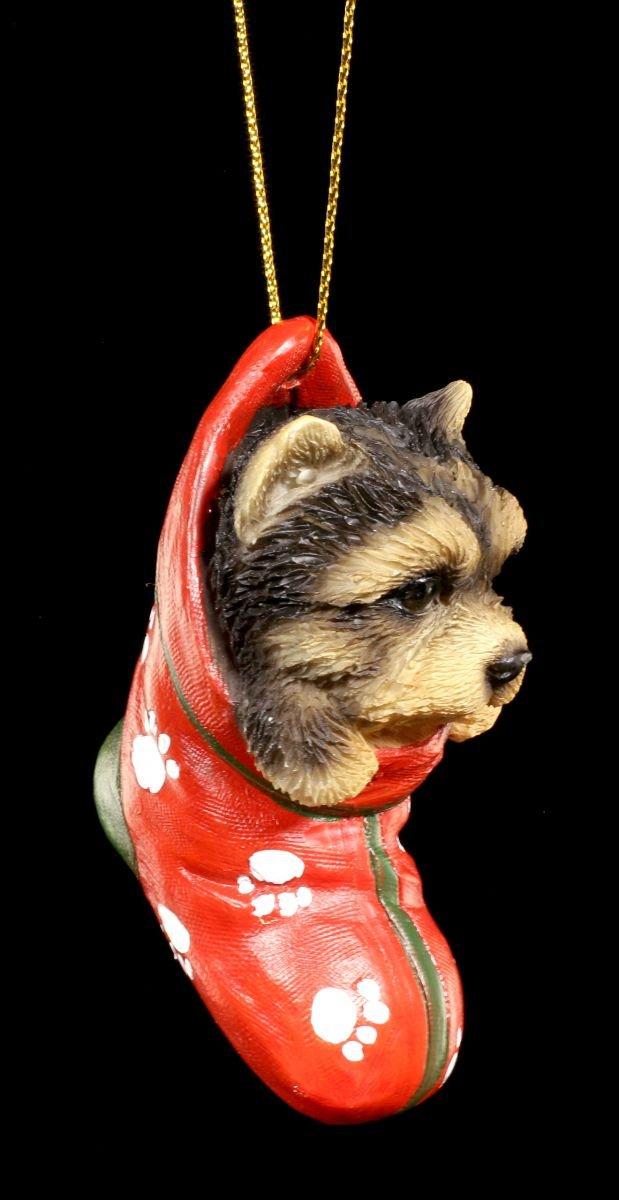 Schnauzer Welpe Christbaum-Schmuck Figur Kugel Deko Weihnachten Socke Strumpf