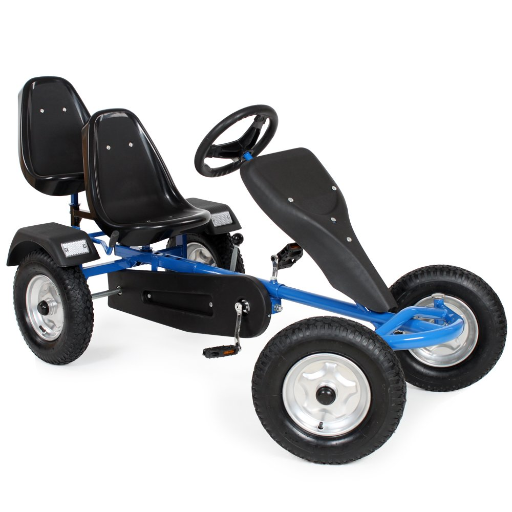 TecTake Gokart Tretauto Go Kart Tretfahrzeug blau: Amazon.de: Auto