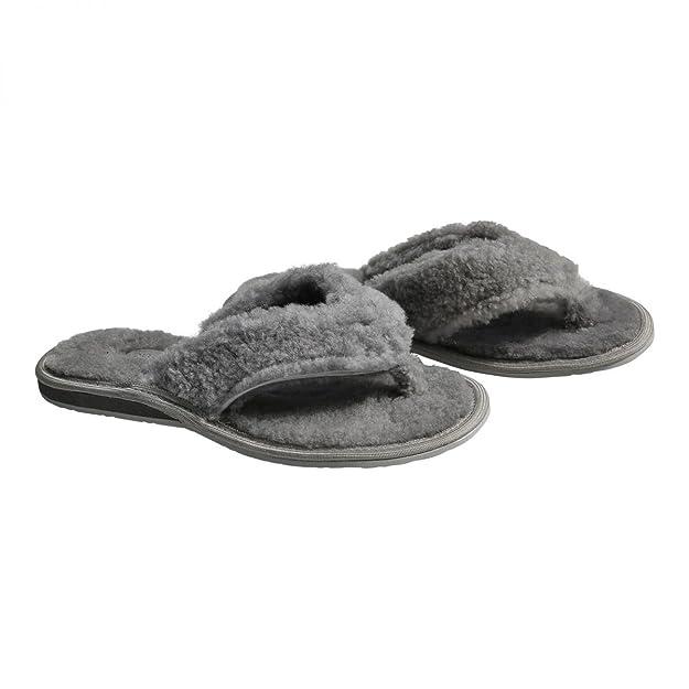 Lammfell - ZEHENSTEG FLUFFI Damen Puschen Zehentrenner Echtfell: Amazon.de:  Schuhe & Handtaschen