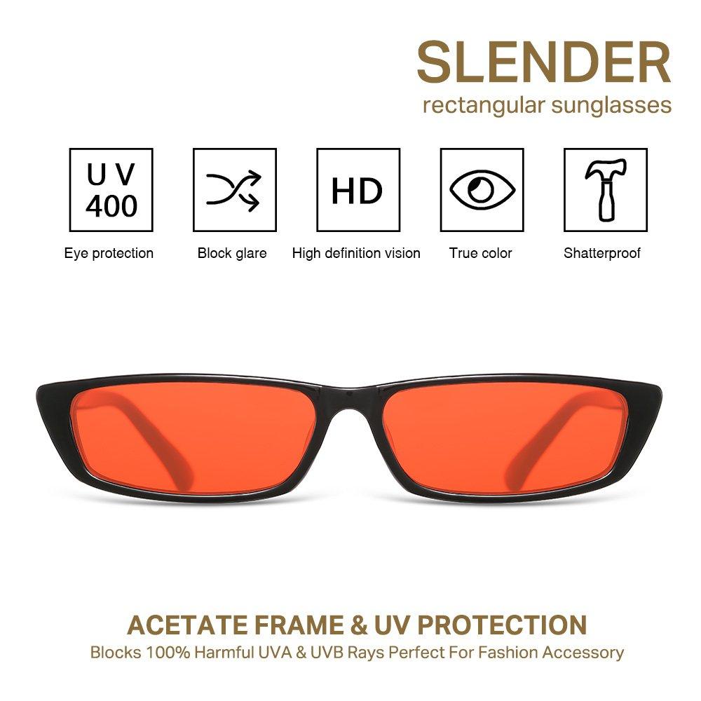 Amazon.com: lookeye cuadrado anteojos de sol pequeño Vintage ...