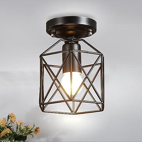 Industria Luz de techo retro American Simple Metal lámpara ...
