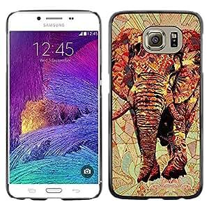 iKiki Tech / Estuche rígido - Art Africa Red Majestic Jungle - Samsung Galaxy S6 SM-G920
