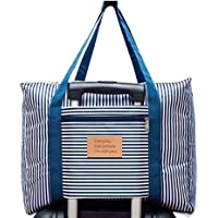 Foldable travel bag Travel Duffle Bag Lightweight Waterproof Travel Luggage Bag (Blue)