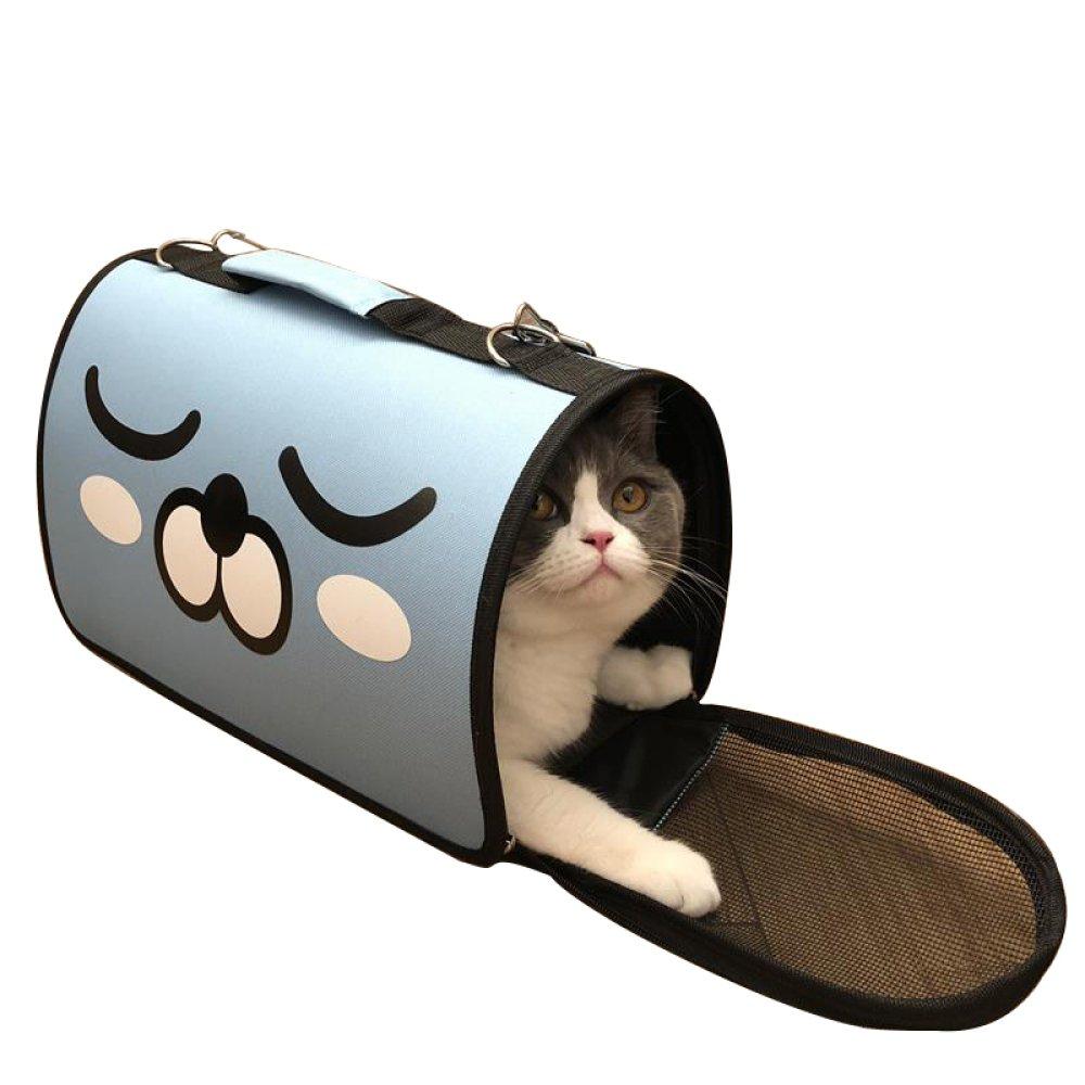 bluee LBAIXX WLQ Cat Pack  Out Cat Cage  Dog Bag  Breathable Cat Bag  Cat Backpack  Portable Pet Shoulder Bag