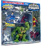 Marvel Superhero Squad 6 Piece Mini Figure Collector's Pack (Falcon, Emma Frost, Iron Man, Spider-Man, Mr. Fantastic and Hulk)