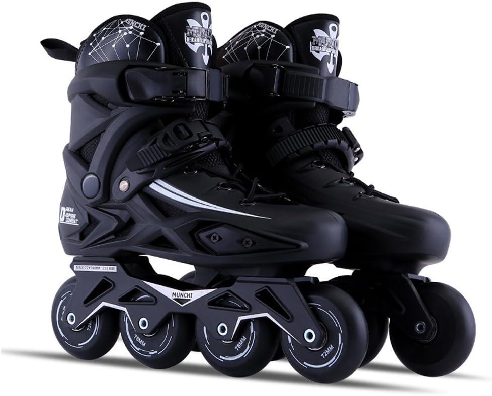 Vampsky 大人男性用プロインラインスケートシューズフリースタイル女性スケートブーツアウトドアローラースケートプロテクターギア付きブラック