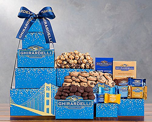 Wine Country Gift Baskets Ghirardelli Tower (Gift Basket Fruit Chocolate)