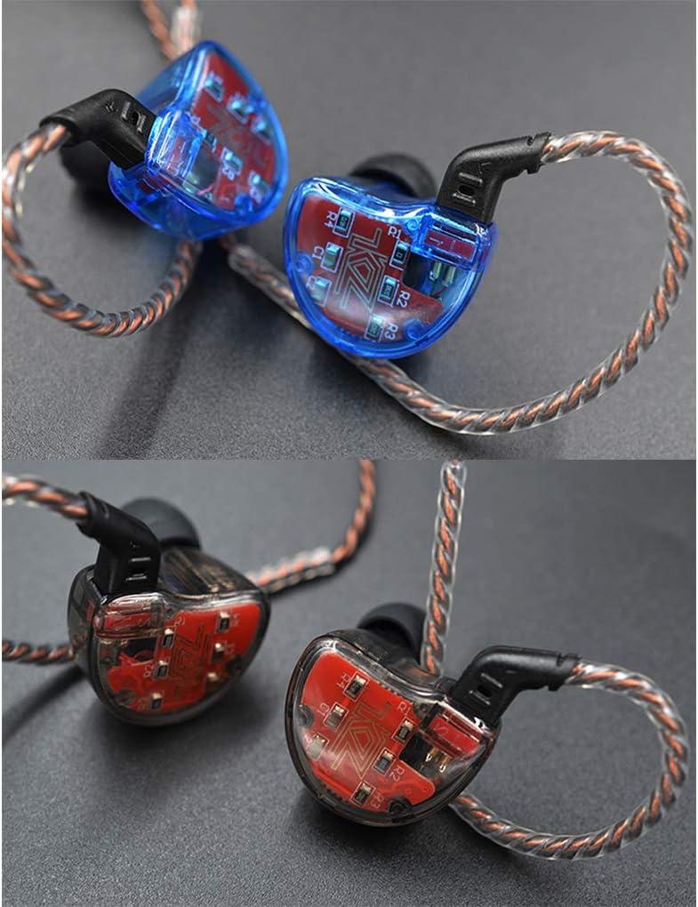 KZ Hochaufl/ösende elektronische Frequenzweiche 1DD Ger/äuschunterdr/ückung ZS10-C Professionelle Kopfh/örer Hybrid-Treiber 4BA Stereo-Ohrh/örer