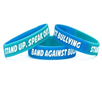 button support shop in and ribbon bullying w white yellow navy with the back paracord fastener red blue anti bracelet
