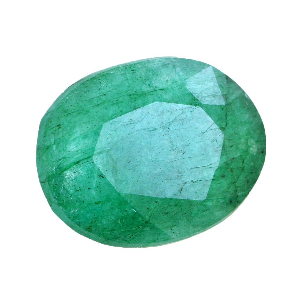skyjewels Certified 15.00 Ct Natural Green Emerald Gemstone
