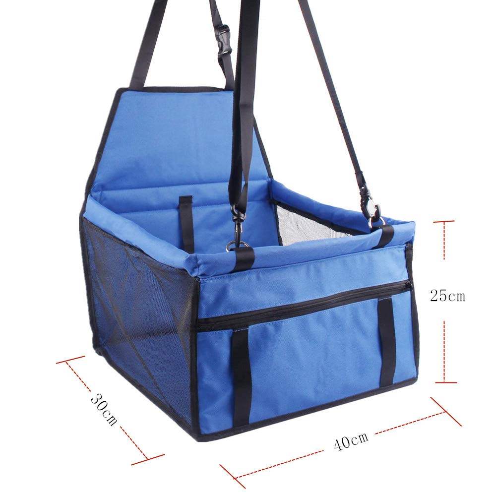 Cats Playpen Easy Folding Red Great for Small Dogs Sinrextraonry Pet Car Booster Seat for Dog Cat Puppy with Seat Strap Waterproof Travel Carrier Bag Cage with Clip-On Safety Leash