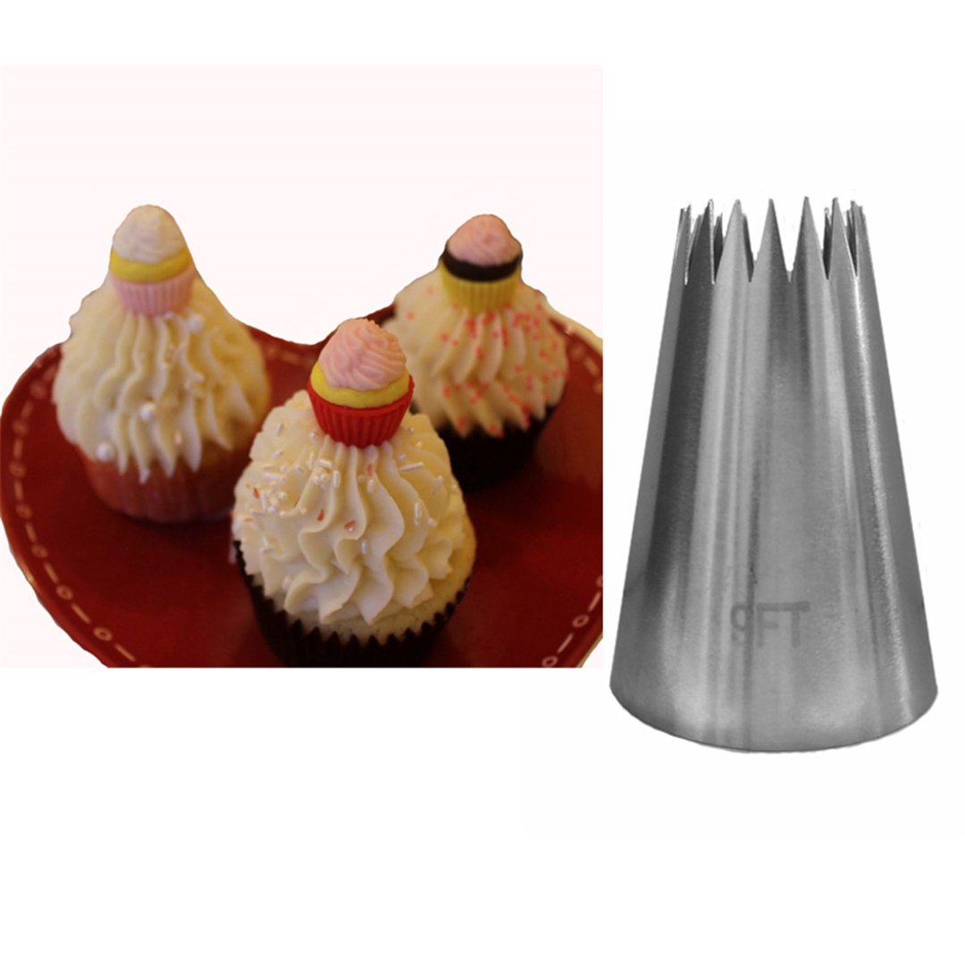 BrilliantDay 4 piezas acero inoxidable Boquillas de Tuber/ías perfecto para Panaderos Profesionales#1