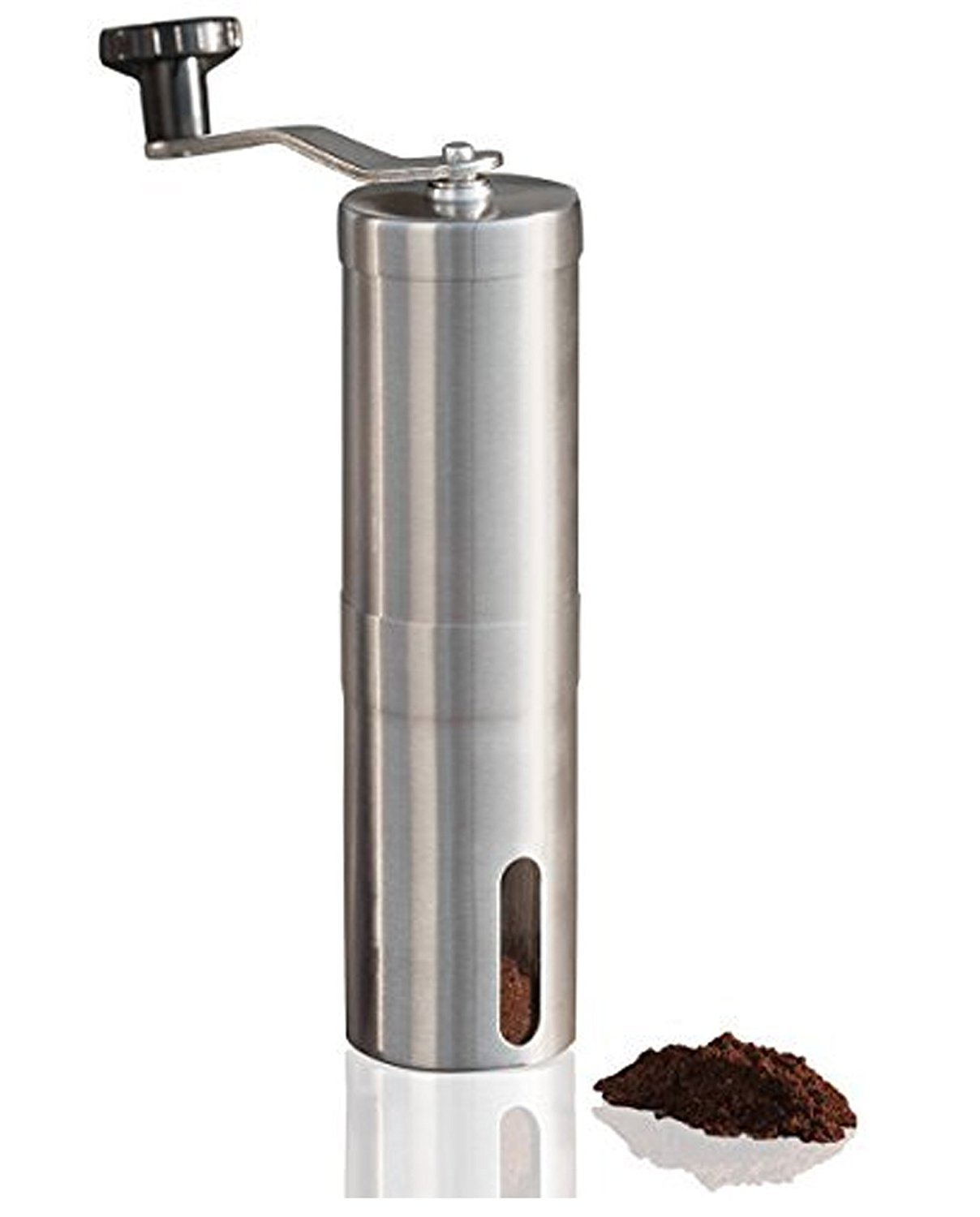 Coffee Makers,Manual Coffee Grinder,Conical Burr Mill,Portable Brushed Stainless Steel Hand Coffee Bean Grinder for Home,Traveling,Camping