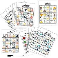 Scavenger Hunt for Kids, Set of 16 Different Games, Dry-Erase (Marker Included), Stocking Stuffer