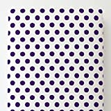 Carousel Designs Purple Brush Dots Toddler Bed Sheet Fitted