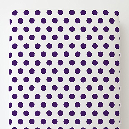 Carousel Designs Purple Brush Dots Toddler Bed Sheet Fitted by Carousel Designs