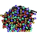 Qedertek Fairy Decorative Christmas Solar String Lights, 72ft 200 LED Lights for Indoor and Outdoor, Home, Lawn...