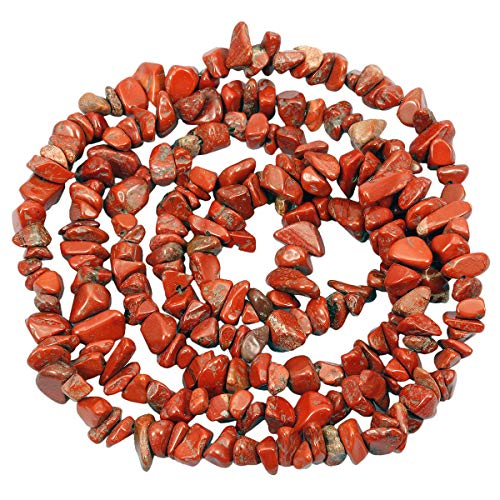 Nupuyai Chips Gemstone Loose Beads for Jewelry Making, Polishd Stone Beads Strands 33 inches, Red Jasper ()