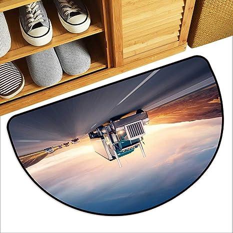 Amazon Com Tablecovers Home Half Moon Door Mat Ameri Style Truck