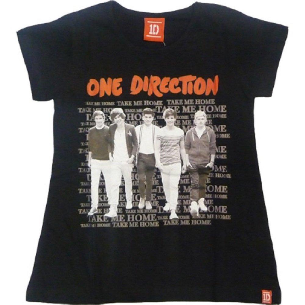 One Direction Amts M/ädchen Schwarz Printed Top Alter 7-8,9-10,11-12 Jahre