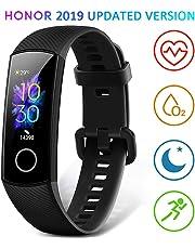 HONOR Band 5 Smartwatch Orologio Fitness Tracker Uomo Donna Pressione Sanguigna Smart Watch Cardiofrequenzimetro da Polso Contapassi Smartband Sportivo Activity Tracker,Nero