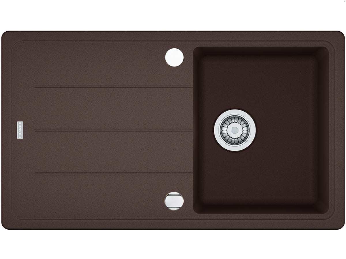 Franke Basis BFG 611-86 Chocolate Granit-Sp/üle braun K/üchensp/üle Auflage-Sp/üle
