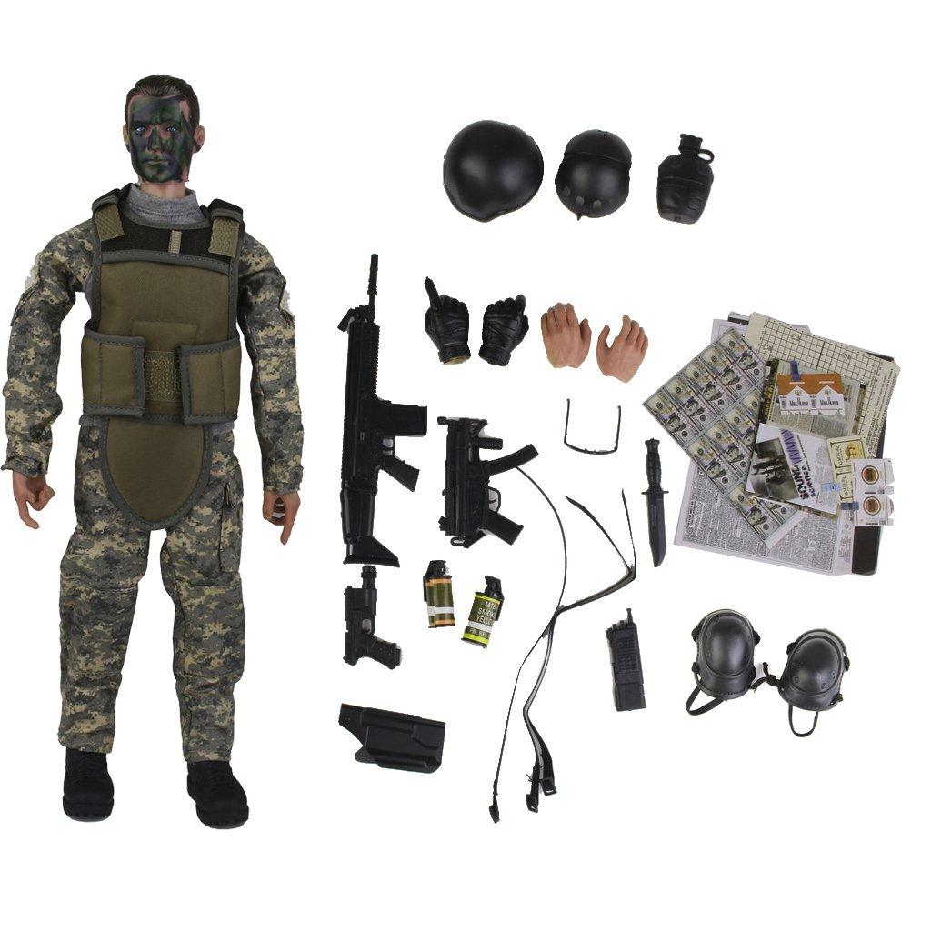 1.6 Soldado De La Policia Militar De 12 Pulgadas Figura De Accion Nb02a Generico JPA15015210
