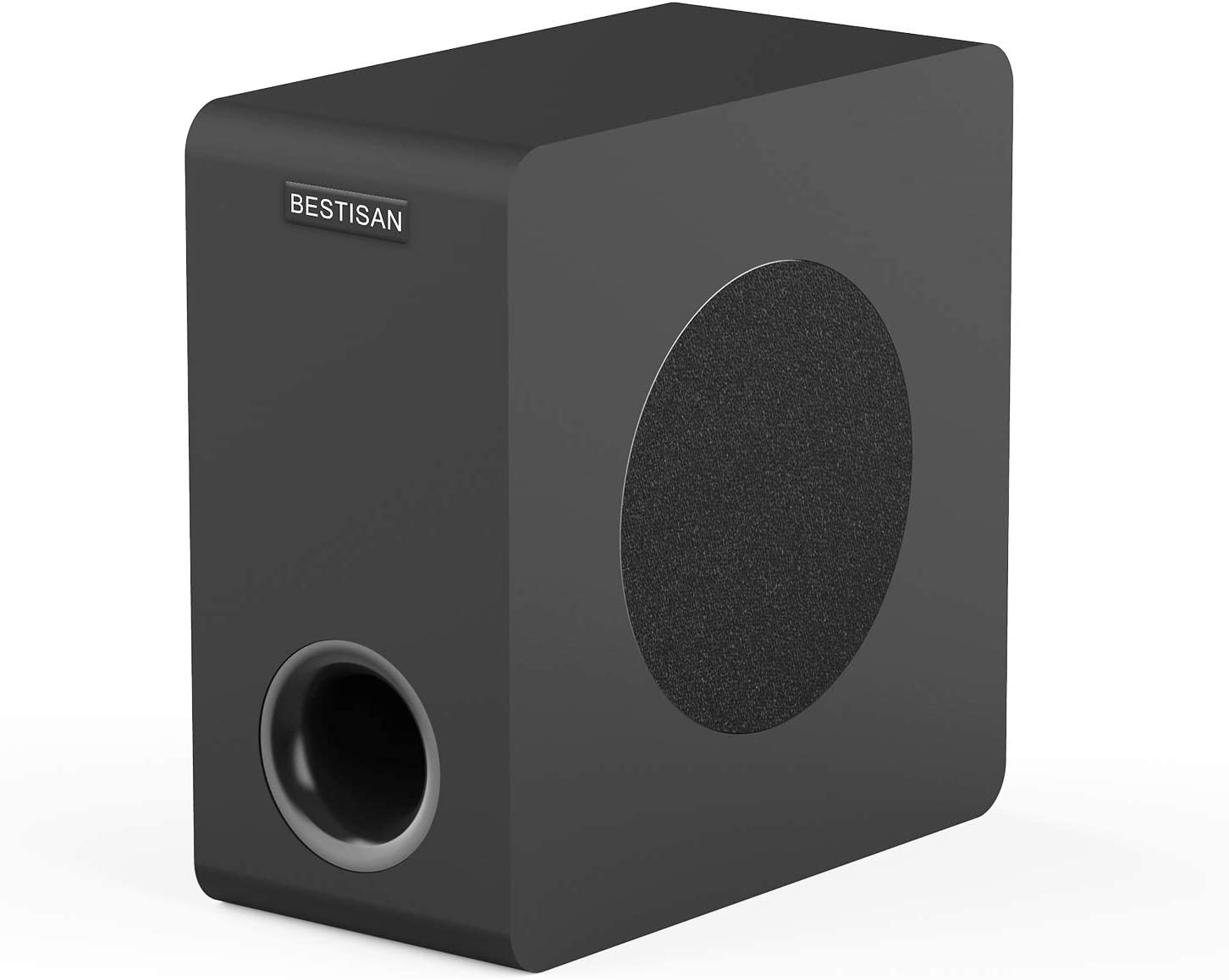 Powered Subwoofer, Bestisan 6.5'' Bluetooth Home Audio Subwoofer Sub, Deep Bass Response in Compact Design, Easy Setup with Home Theater Systems/TV/Speakers/PC/Tablet/Phone/DVD, 2021 Model