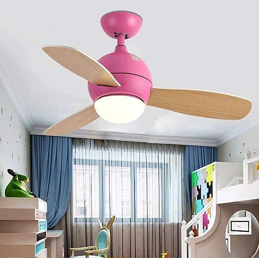 EASTYY Nordic Macaron Lámpara Habitación para niños Ventilador de ...