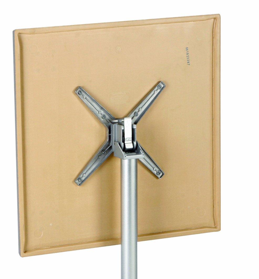 BEST 43549557 Klapptisch Maestro rund anthrazit Tempera Durchmesser 90 cm