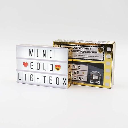 Locomocean - Caja de luz dorada metálica A6: Amazon.es: Hogar