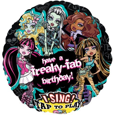 Monster High Balloons (Monster High Freaky Fab Birthday Sing-A-Tune 28