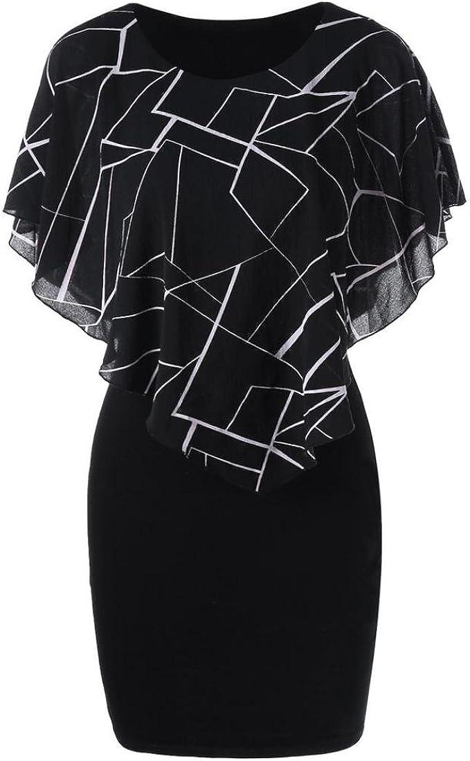 Amazon.com: minisoya Plus tamaño mujer geométrico gasa ...