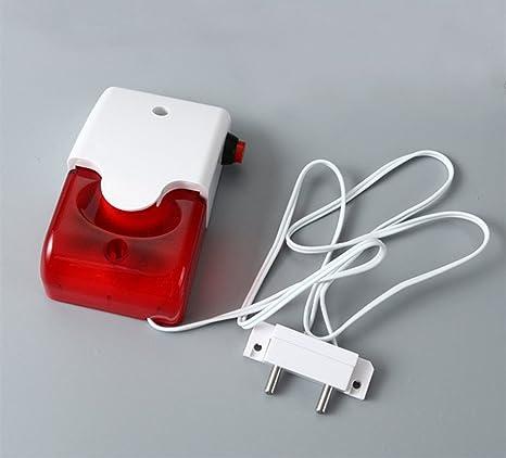 Lethend - Detector de Fugas de Agua electrónico y Alarma de luz y Sonido, 110